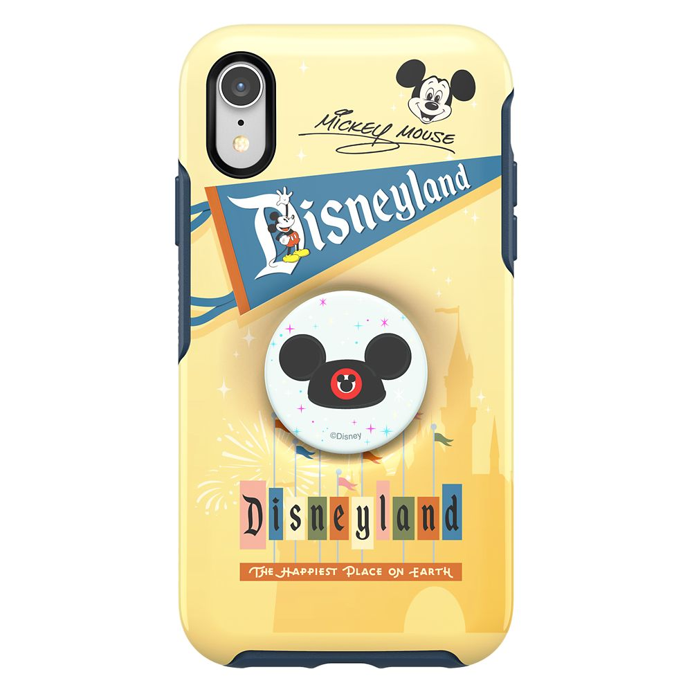 Mickey Mouse iPhone XR Case by Otterbox with Ear Hat PopSockets PopGrip – Disneyland