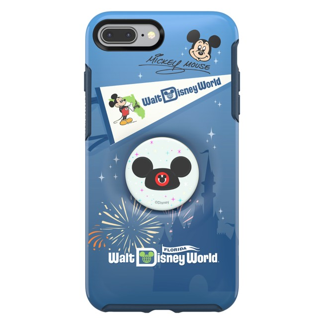 Mickey Mouse iPhone 8 Plus Case by OtterBox with Ear Hat PopSockets PopGrip – Walt Disney World