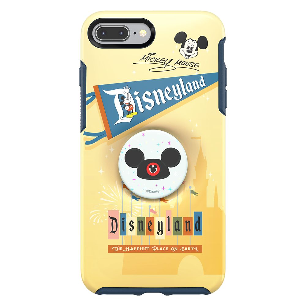 Mickey Mouse iPhone 8 Plus Case by Otterbox with Ear Hat PopSockets PopGrip – Disneyland