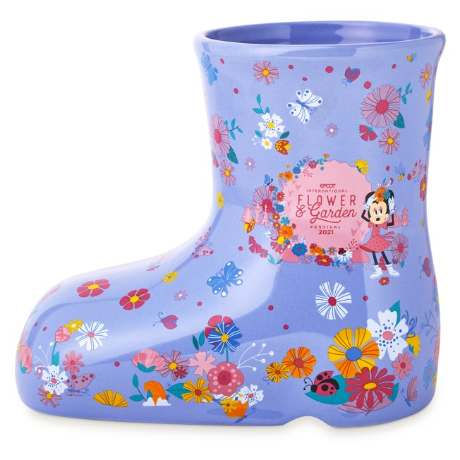 Minnie Mouse Rain Boot Vase – Epcot International Flower and Garden Festival 2021