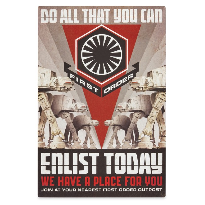 First Order ''Enlist Today'' Metal Sign – Star Wars: Galaxy's Edge