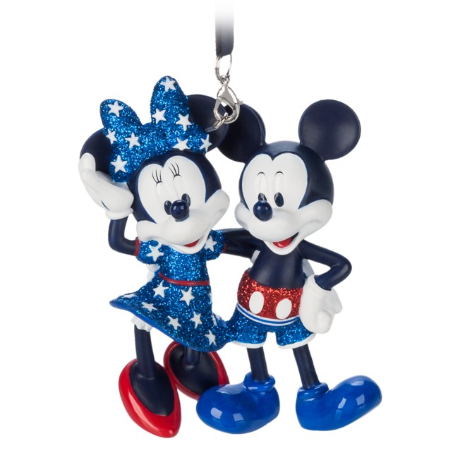 Mickey and Minnie Mouse Americana Figural Ornament