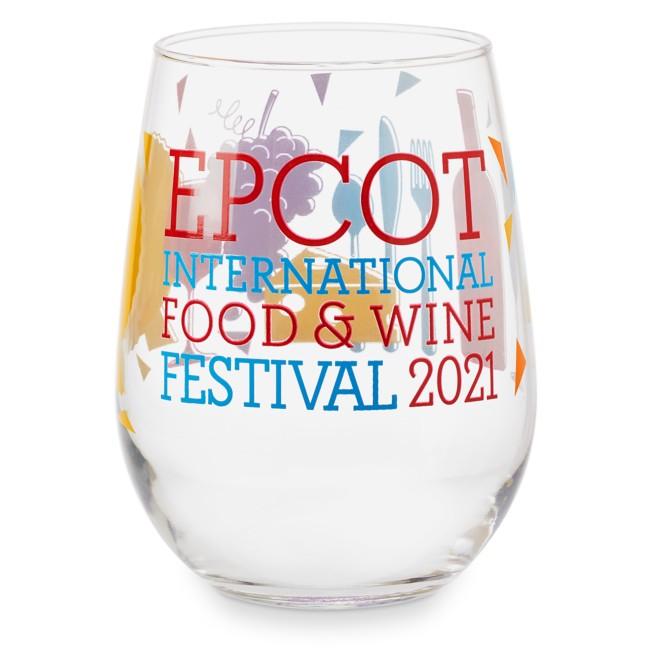 Epcot International Food & Wine Festival 2021 Stemless Wine Glass