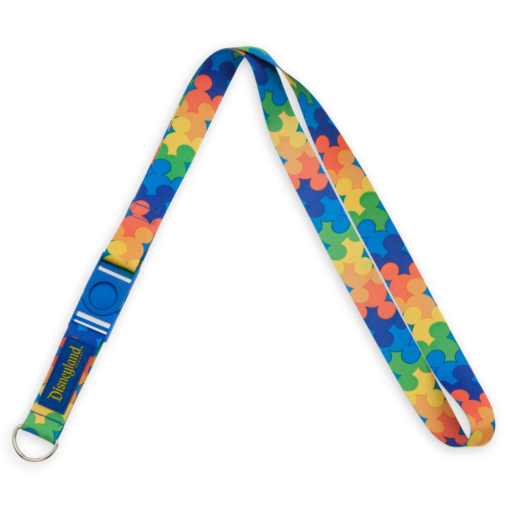 Mickey Mouse Rainbow Icon Lanyard – Disneyland
