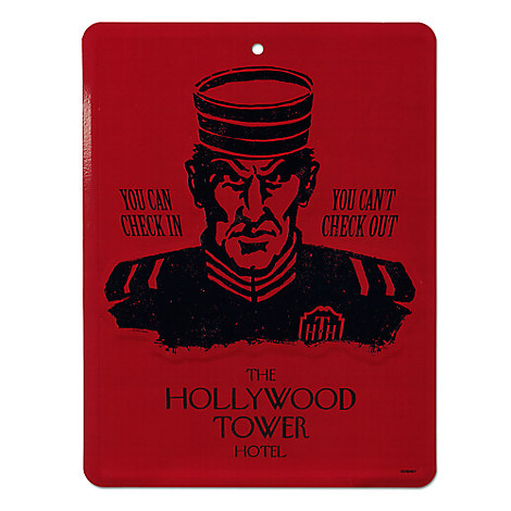 Hollywood Tower Hotel Tin Sign