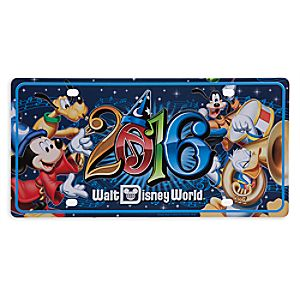 Sorcerer Mickey Mouse and Friends License Plate - Walt Disney World 2016