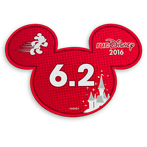 Mickey Mouse runDisney 2016 Magnet - 6.2