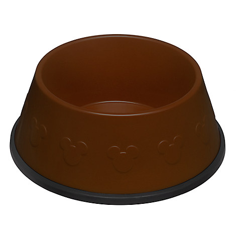 Mickey Mouse Icon Dog Bowl - Brown