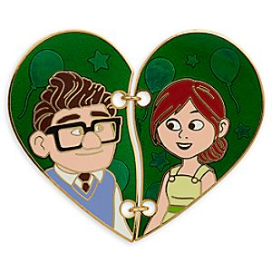Carl and Ellie ''Broken Heart'' Pin Set - Up