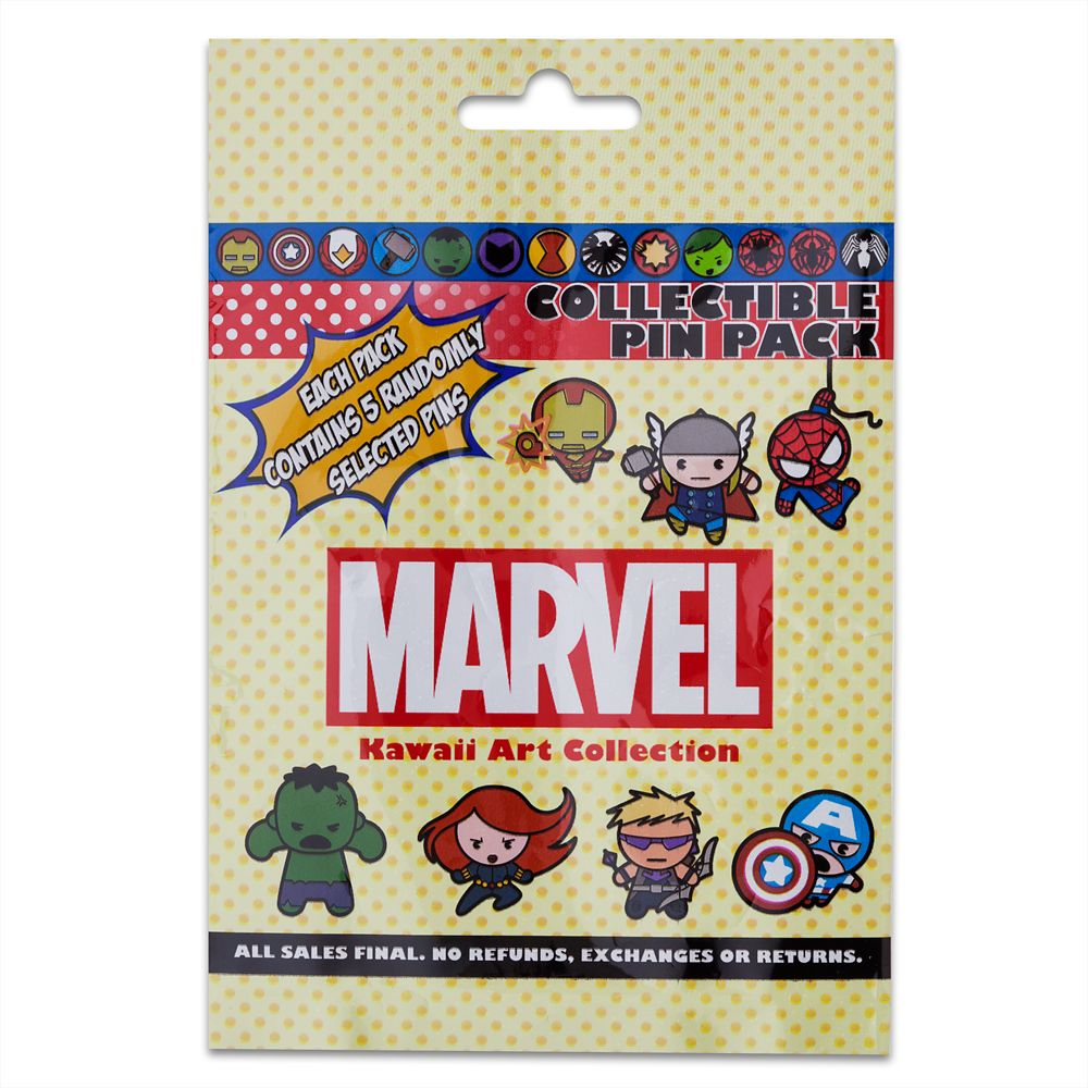 Marvel ''Kawaii Art Collection'' Mystery Pin Pack