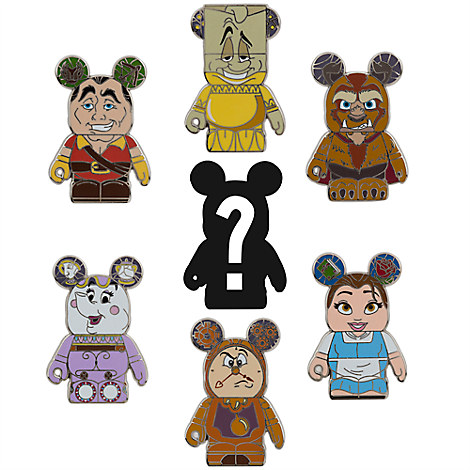 Vinylmation Beauty and the Beast Mystery Pin Set