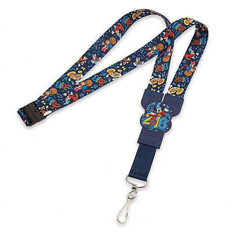 Sorcerer Mickey Mouse and Friends Lanyard - Disney Parks 2016