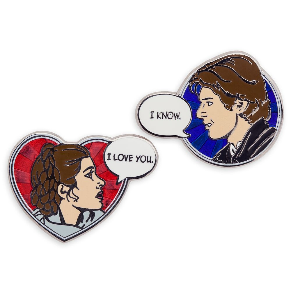 Han Solo and Princess Leia Pin Set – Star Wars