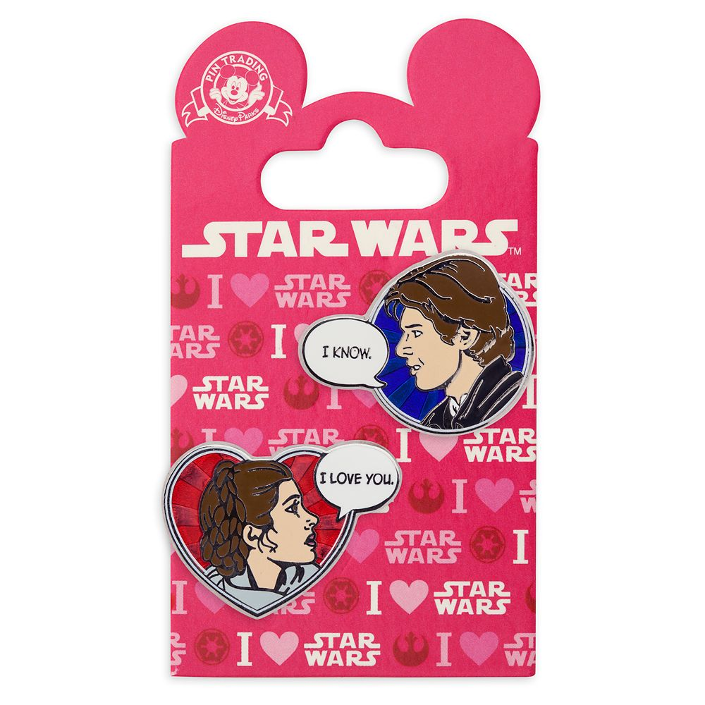 Han Solo and Princess Leia Pin Set – Star Wars