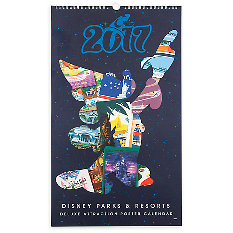 Disney Parks Attraction Poster Calendar - 2017