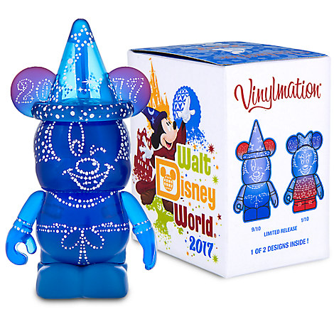 Walt Disney World 2017 Vinylmation 3'' Eachez Figure - Sorcerer Mickey and Minnie Mouse