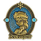 Elsa Cameo Birthstone Pin -- December