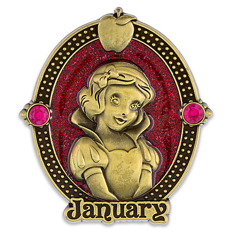 Snow White Cameo Birthstone Pin -- January