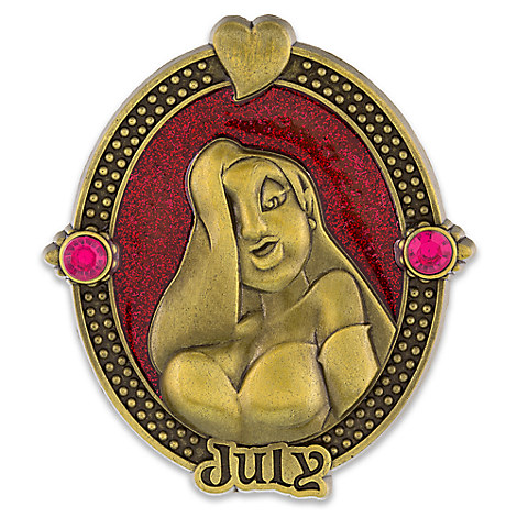Jessica Rabbit Cameo Birthstone Pin -- July
