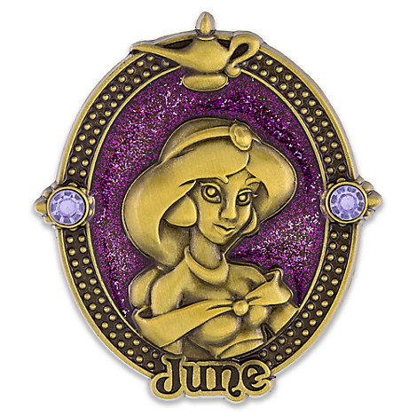 Jasmine Cameo Birthstone Pin -- June
