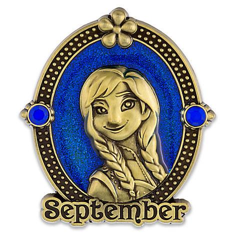 Anna Cameo Birthstone Pin -- September