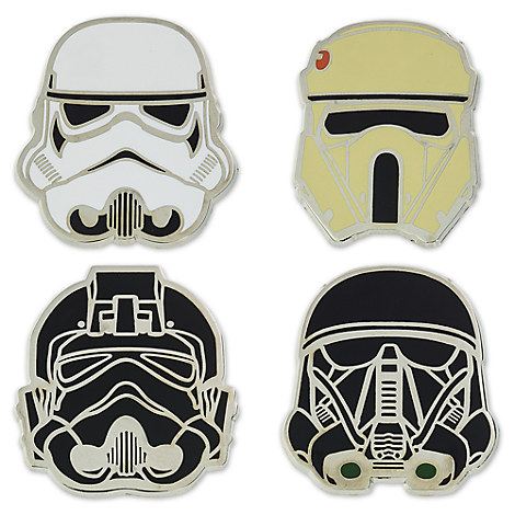 Stormtrooper Helmet 4-Pin Set - Rogue One: A Star Wars Story