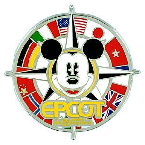 Mickey Mouse Compass Epcot Logo Pin – Walt Disney World
