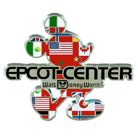Mickey Mouse Silhouette Epcot Center Logo Pin - Walt Disney World