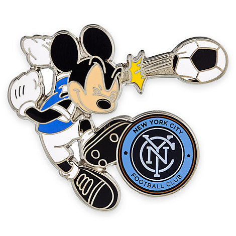 Mickey Mouse Major League Soccer Pin - New York City FC