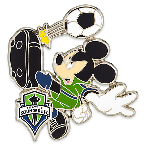 Mickey Mouse Major League Soccer Pin - Seattle Sounders FC