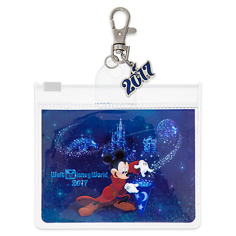 Sorcerer Mickey Mouse Pin Lanyard Pouch with Charm - Walt Disney World 2017
