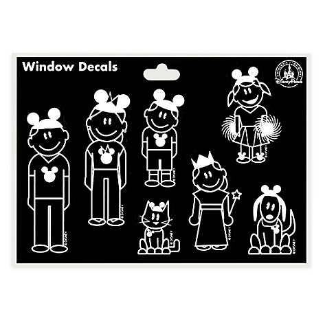 Mickey and Minnie Mouse Family Window Decals