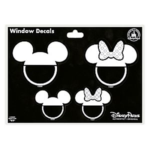 Mickey and Minnie Mouse Icon Window Decals