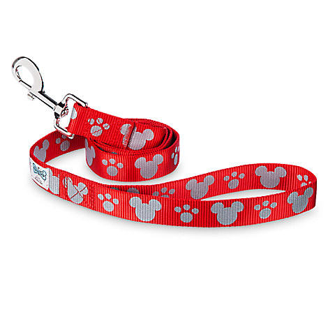 Mickey Mouse Reflective Dog Lead - Red - Medium/Large