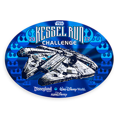 Millennium Falcon runDisney Kessel Run Challenge Auto Magnet
