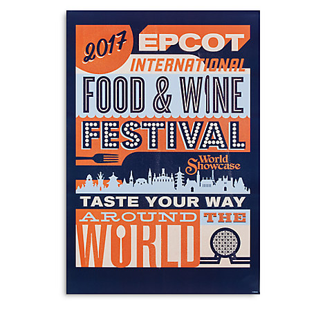 Epcot International Food and Wine Festival Poster