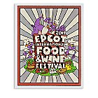 Figment Poster - Epcot International Food and Wine Festival