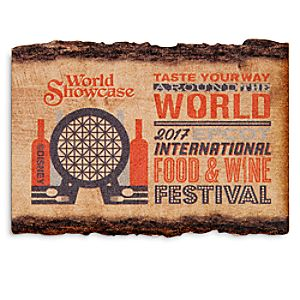 Epcot International Food and Wine Festival Wooden Magnet