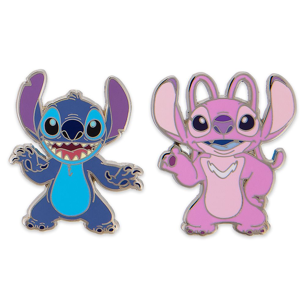 Stitch and Angel Pin Set