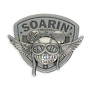 Mickey Mouse Soarin' Around the World Pin - ''Clear for Takeoff''