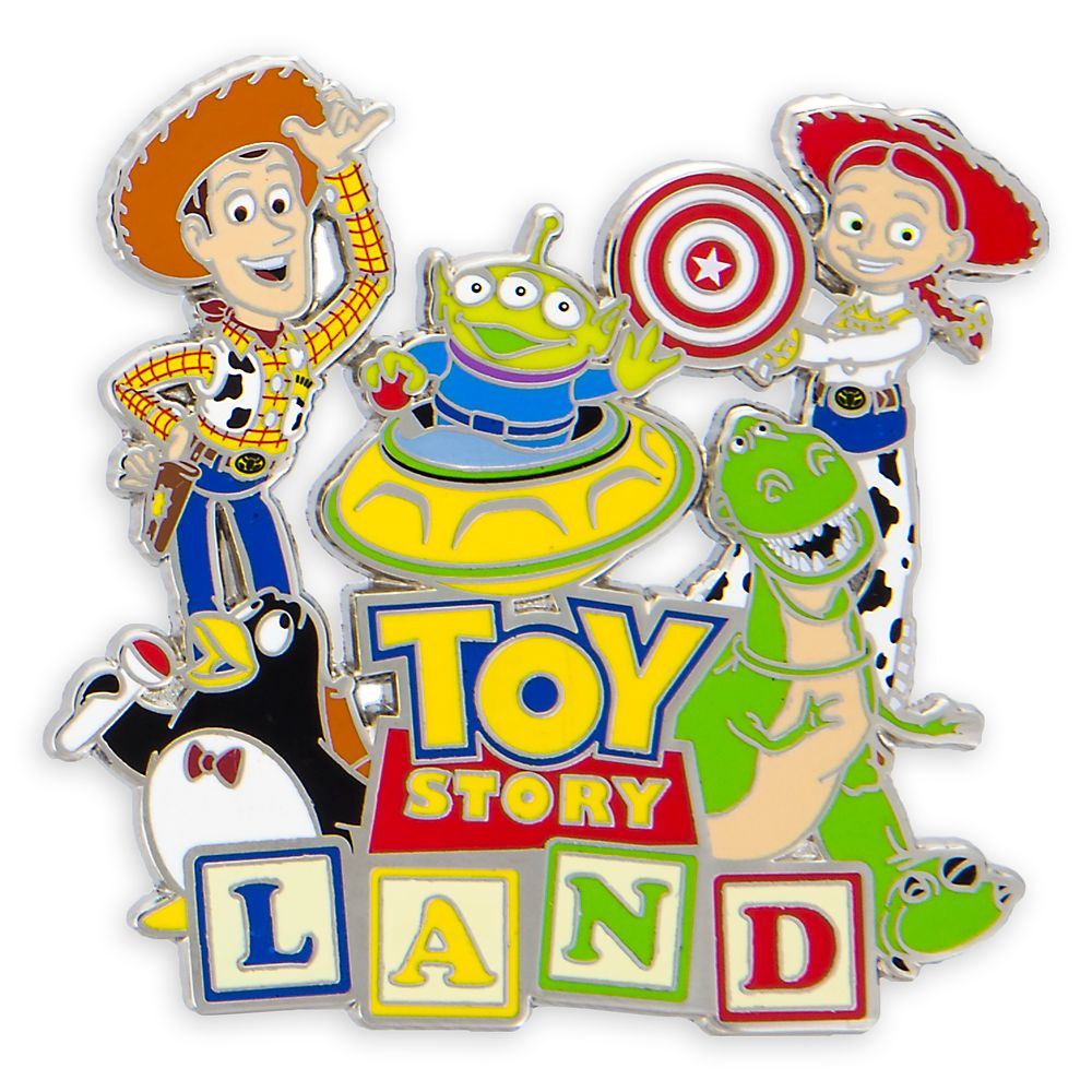 Toy Story Land Logo Pin