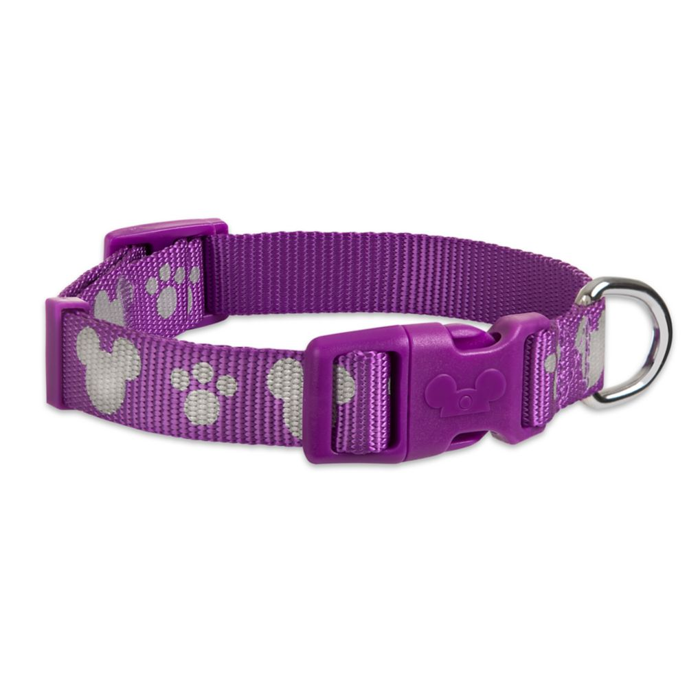 Mickey Mouse Reflective Dog Collar – Purple