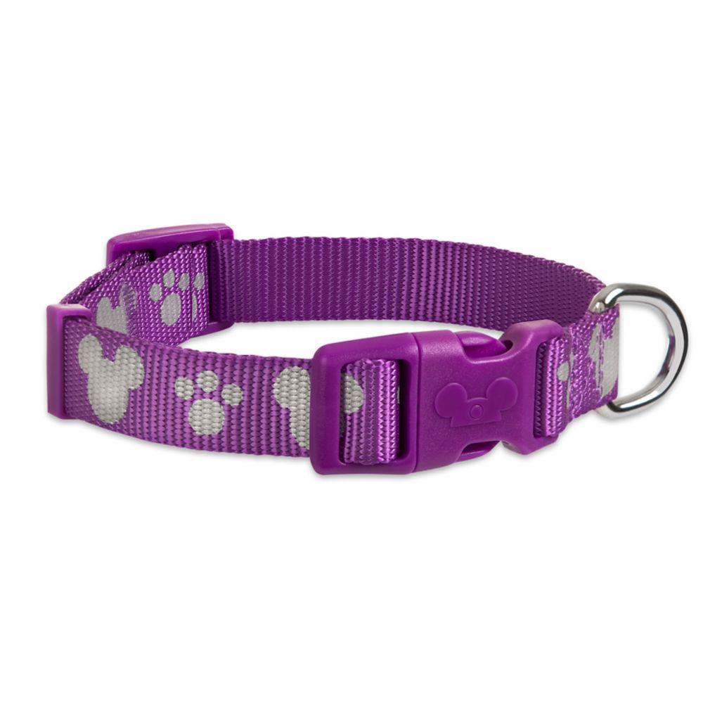 Mickey Mouse Reflective Dog Collar – Purple