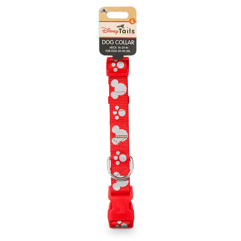 Mickey Mouse Reflective Dog Collar – Red