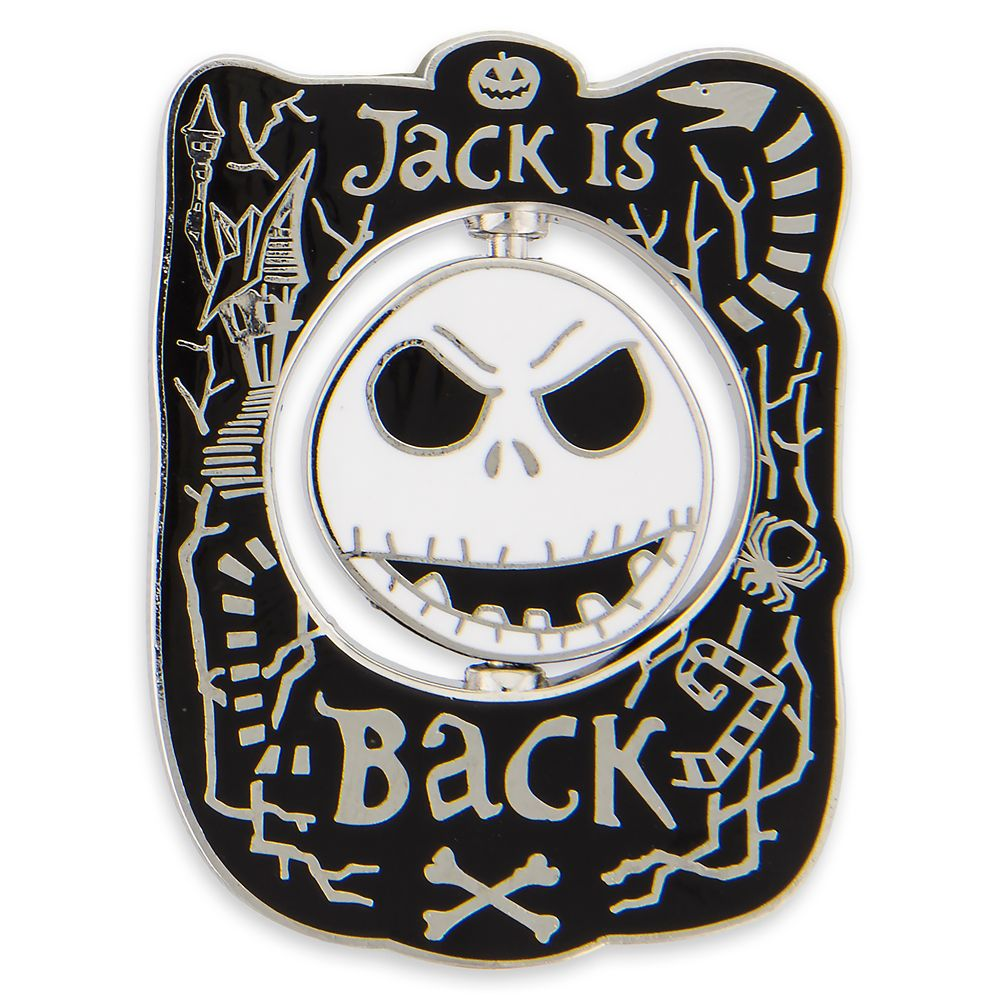 Jack Skellington Spinner Pin