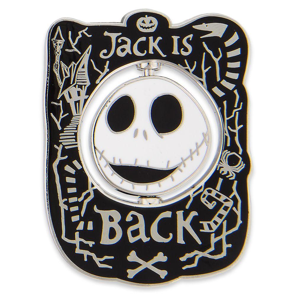 Jack Skellington Spinner Pin