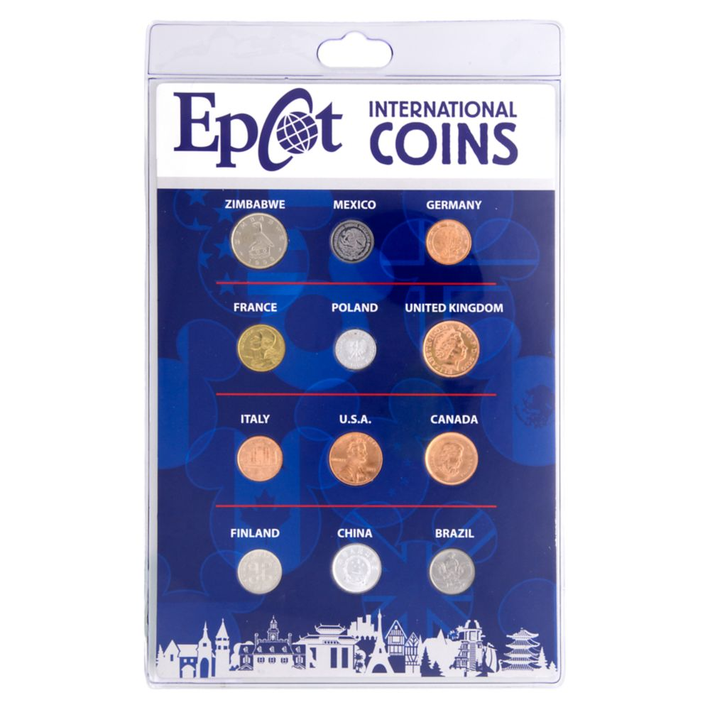 24 Unique Disney Gift Ideas featured by top US Disney blogger, Marcie and the Mouse Epcot International Coin Set Walt Disney World