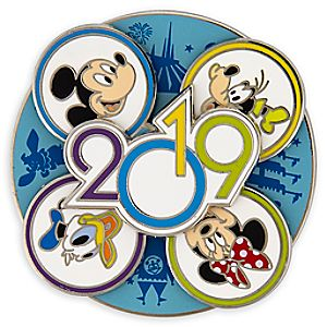Mickey Mouse and Friends Walt Disney World Spinner Pin - 2019