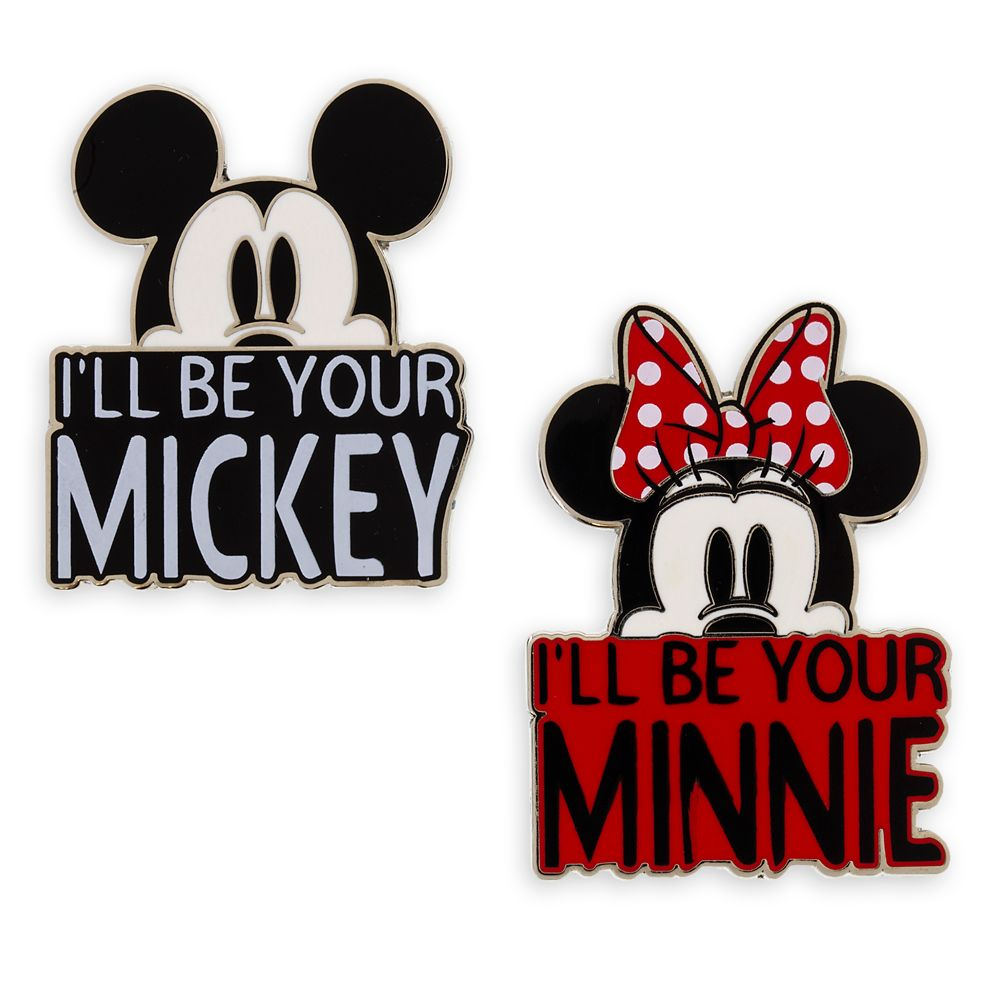 Mickey and Minnie Mouse Pin Set