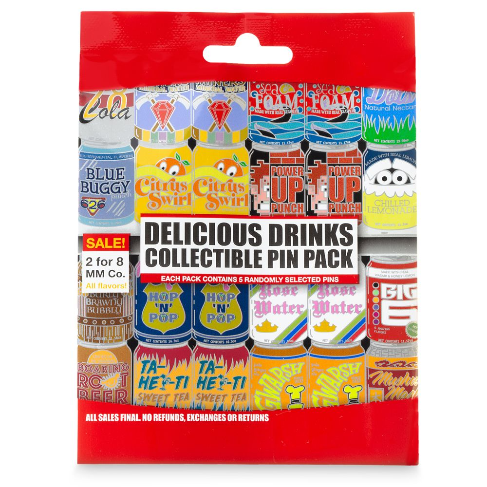 Disney Parks Delicious Drinks Mystery Pin Set
